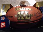 WILSON SPORTING GOODS Sports Memorabilia SUPERBOWL XL FOOTBALL